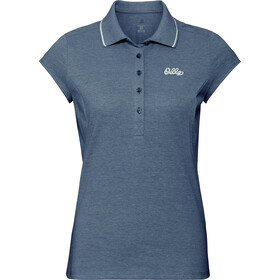 Odlo Kumano Kurzarm Polo Shirt Damen diving navy melange
